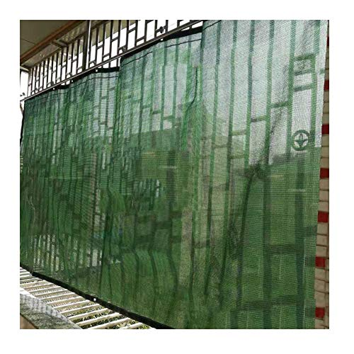 Price comparison product image MAHFEI Shading Net Curtain Type It Can Move Shading Net Anti-UV Light Transmission Metal Ring Polyethylene,  11 Sizes Customizable (Color : Green - A,  Size : 1.5x3.5m)