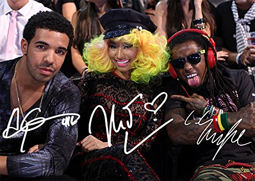 (Large Nicki Minaj Drake Lil Wayne Print Nicki Minaj Drake Lil Wayne Rap Trio Young Money (11.7