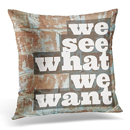 SPXUBZ White Abstract Inspiration Motivation Quote About Life Antique Better Decorative Home Decor Square Indoor/Outdoor Pillowcase Size: 18X18 Inch(Two Sides) -