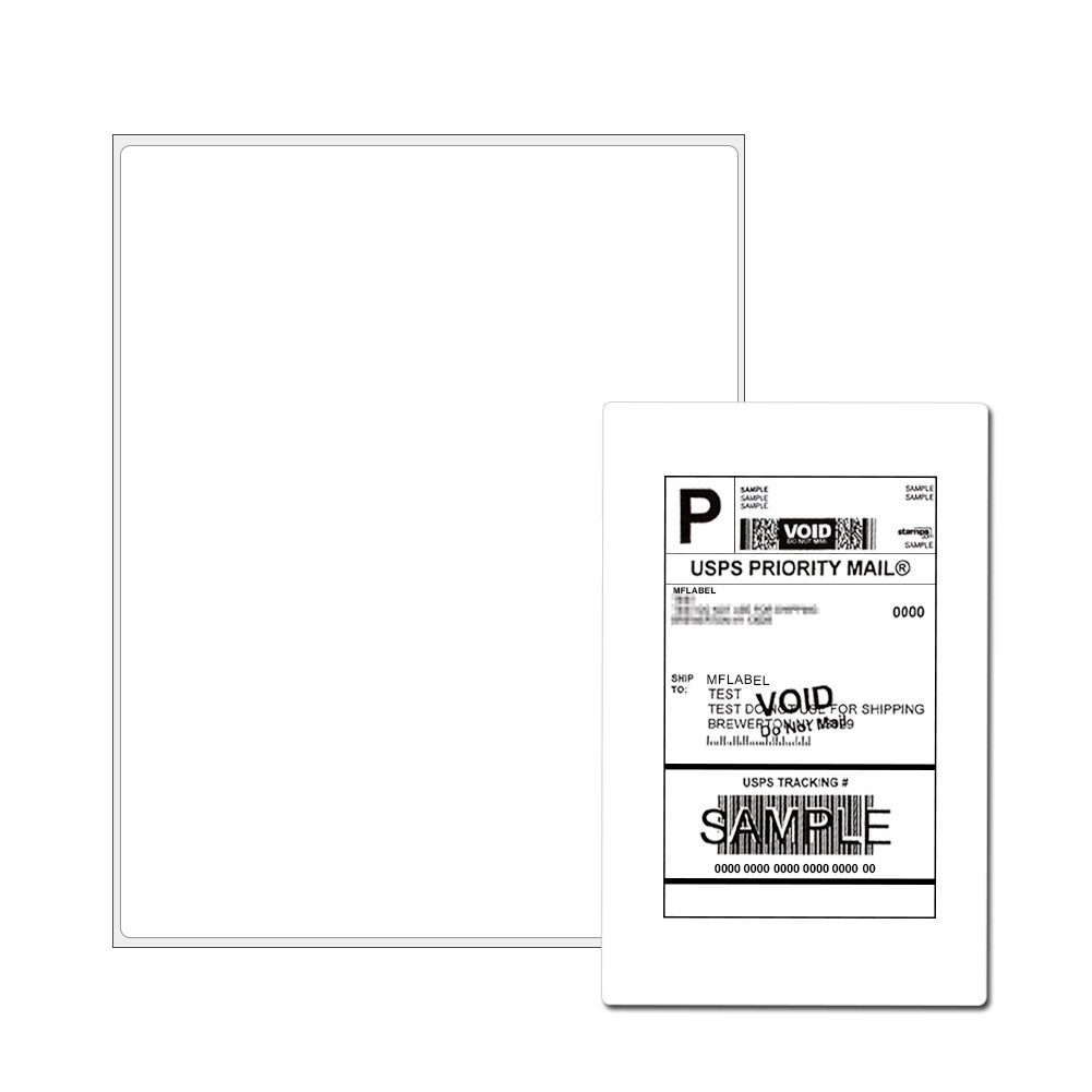 Full Sheet Address Shipping Labels - 8-1/2'' x 11'' - 2000 Labels