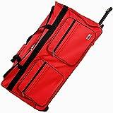 Deuba Travel Duffel Bag 160Liter Red Wheeled Luggage Castors Gym Sport Camping Large Lightweight Telescopic Handle