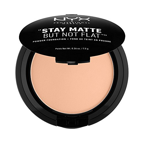 - NYX PROFESSIONAL MAKEUP Stay Matte but not Flat Powder Foundation, Soft Sand, 0.26 Ounce