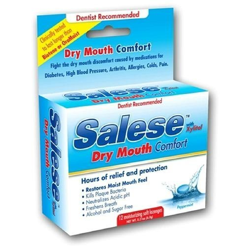 Salese Original, Hours of Dry Mouth Relief, Moisturizing Lozenges 12 ea by Salese