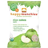 Happy Munchies Organic Apple Rice Cakes - 1.4 Oz, Pack of 8