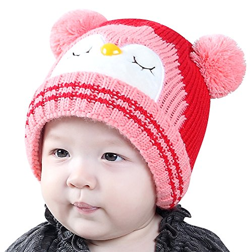 hot sell IMLECK Kids Cute Cartoon Owl Winter Hat Toddler Warm Beanie Hat - Fits 3 Months Old To 2 Years Old supplies