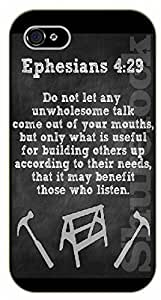 iPhone 6 Bible Verse - Ephesians 4:29: Do not let any unwholesome talk come out of your mouths - black plastic case / Verses, Inspirational and Motivational