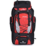 LightInTheBox 80L Outdoor Large Capacity Mountaineering Bag Nylon Outdoor Package Men And Women Hiking Camping Backpacks (Red) For Sale