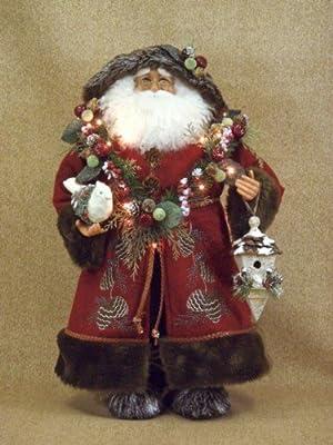 Karen Didion Originals Crakewood Lighted Woodland Santa Claus Figurine