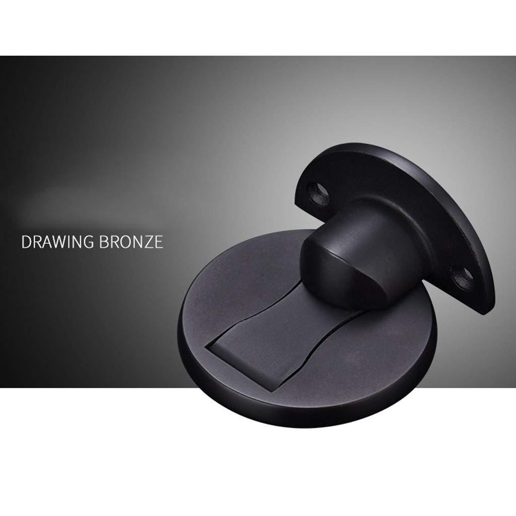 Gold LLguz 2PCS Magnetic Door Holder Stopper with Accessories,Invisible Doors Stop Doorstop Wall Floor Mount Safety Catch for Home