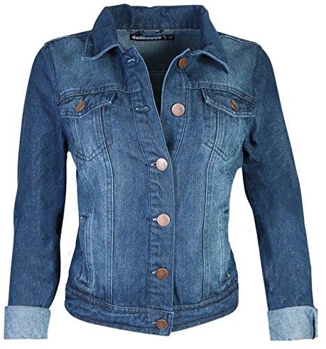 dollhouse Women Basic Denim Jean Jacket, Dark, (Jeans Doll Clothes)