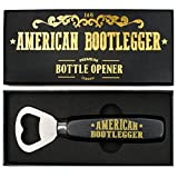 Beer Bottle Opener - Prohibition-Era Style, Stainless Steel Heavy Duty & Premium with Wood Handle Finish in Giftbox Packaging