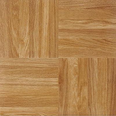 Achig|#Achim Home Furnishings FTVWD23220 Achim Home Furnishings Nexus Oak Parquet, 12 Inch x 12 Inch, Self Adhesive Vinyl Floor Tile #232, 20 Tiles,