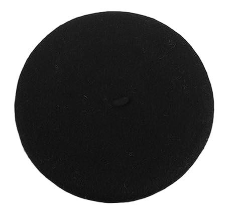 Fablcrew Cappello per bambini lana Cappello da principessa Cappello da  pittore Autunno e inverno berretto nero c84756e1f026