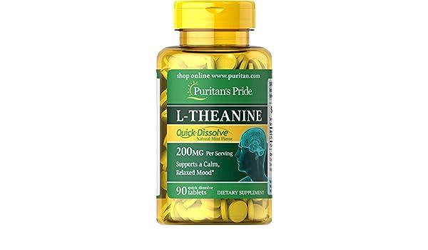 L-Teanina 200 mg 90 cps / Favorece el control del estrés y la ansiedad: Amazon.es: Salud y cuidado personal