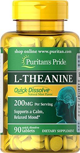 Pride rápida de Puritan disolver la L-teanina 200 mg-90 tabletas