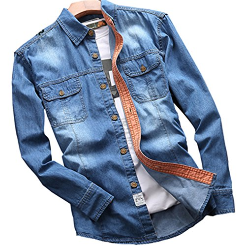 NeeKer Jacket 2018 Spring Men's Casual Denim Long Sleeve for sale  Delivered anywhere in Canada