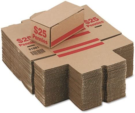 61010 50-Pack PM Company Dime Storage Coin Boxes