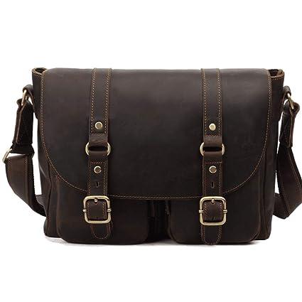 Amazon Com Rabilty Men Briefcase Leather Vintage Simple Messenger