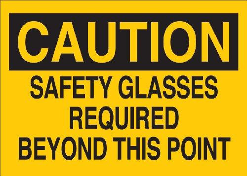 Brady 22592 Plastic Eye Protection Sign, 7