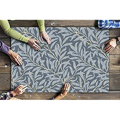 Willow Bough by William Morris Botanical Pattern in Blue & Gold 9015172 (Premium 1000 Piece Jigsaw Puzzle for Adults, 20x30, Made in USA!): Toys & Games