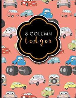 amazon com 8 column ledger appointment book accounting ledger for