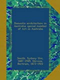 img - for Domestic architecture in Australia; special number of Art in Australia book / textbook / text book