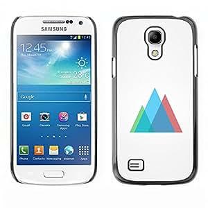 // PHONE CASE GIFT // Duro Estuche protector PC Cáscara Plástico Carcasa Funda Hard Protective Case for Samsung Galaxy S4 Mini i9190 / Neon Geometría /