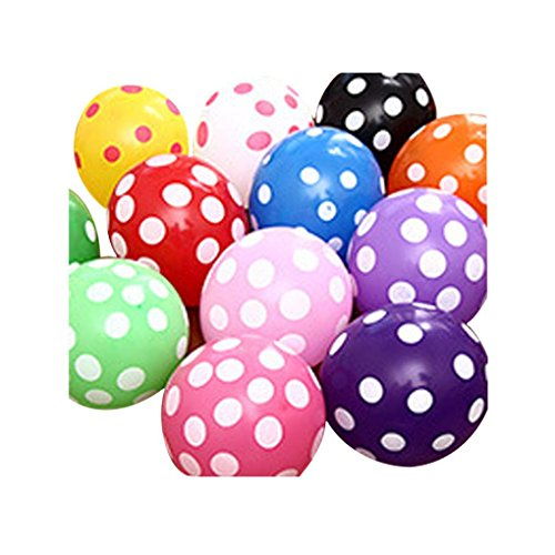 10PCS/set Polka Dot Balloon Latex Balloons 12 Inches Proposal Anniversary Wedding Decoration Party Baby Shower Birthday Decoration Gessppo ()