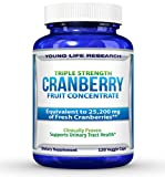 Cranberry Pills - Triple Strength PACRAN - Urinary Tract Health - 120 Soy-Free Non-GMO Vegetarian Capsules