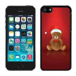 Custom Lovely Iphone 5C TPU Case Christmas Bear Black iPhone 5C Case 1