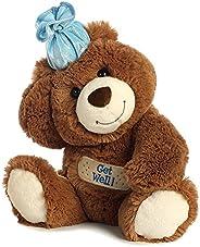 Aurora Get Well Teddy Bear Chocolate Brown Plush Stuffed Animal Toy