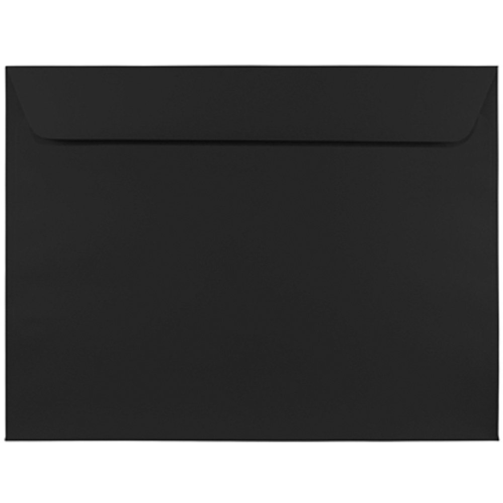 JAM PAPER 9 x 12 Booklet Premium Envelopes - Smooth Black - 100/Pack by JAM Paper