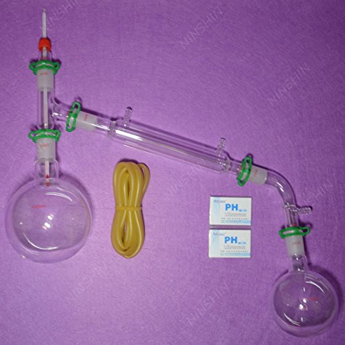 NANSHIN Glassware,1000ml,24/40,Glass Distillation Apparatus,New Lab Vacuum Di...