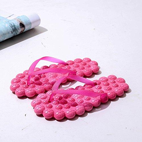 Sandales GUANG Féminins Tongs 37 Pantoufle Glisser Été Modèles Nouveau étudiant D Plage Dames C XING 37 Massage Toe O8dwIOq