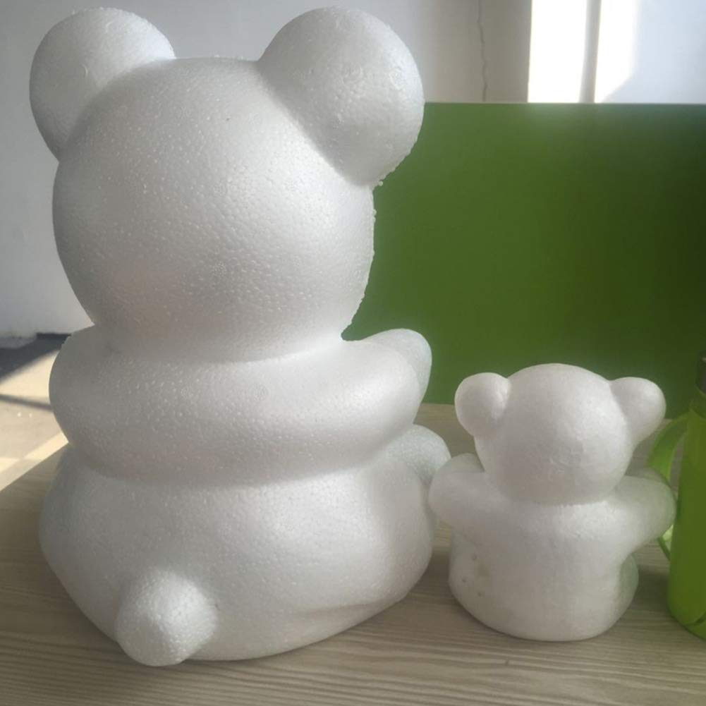 KaariFirefly 1Pc Creative Foam Bear Modeling Lightweight DIY Craft Valentine Party Decoration Supplies Gift Smooth Surface Foam Modeling White Big