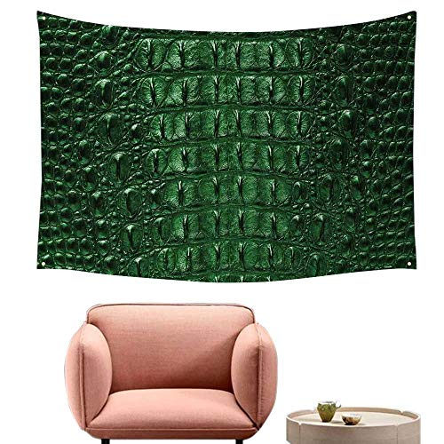 Bedroom Tapestry Animal Print Crocodile Skin Leather Pattern Dangerous Wild Exotic Animals Lifestyle Illustration Living Room Background Decorative Painting 60