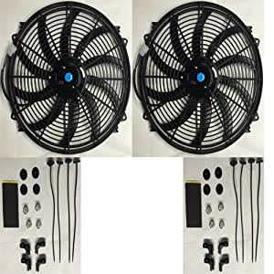 "PROCOMP DUAL 16"" INCH ELECTRIC COOLING RADIATOR FAN KIT"