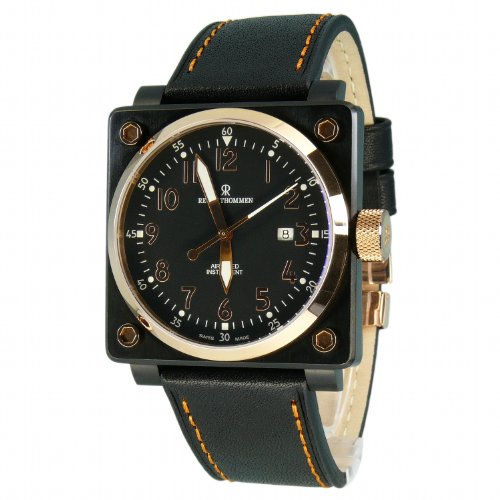 Revue Thommen Men's Automatic Watch 16576.2587 with Leather Strap