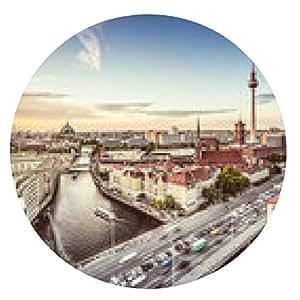 alfombrilla de ratón Berlín del paisaje urbano - ronda - 20cm