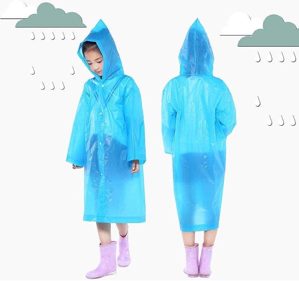 REYO Kids Jacket Portable Reusable Raincoats Children Windbreakers Rain Coat Ponchos for 6-12 Years