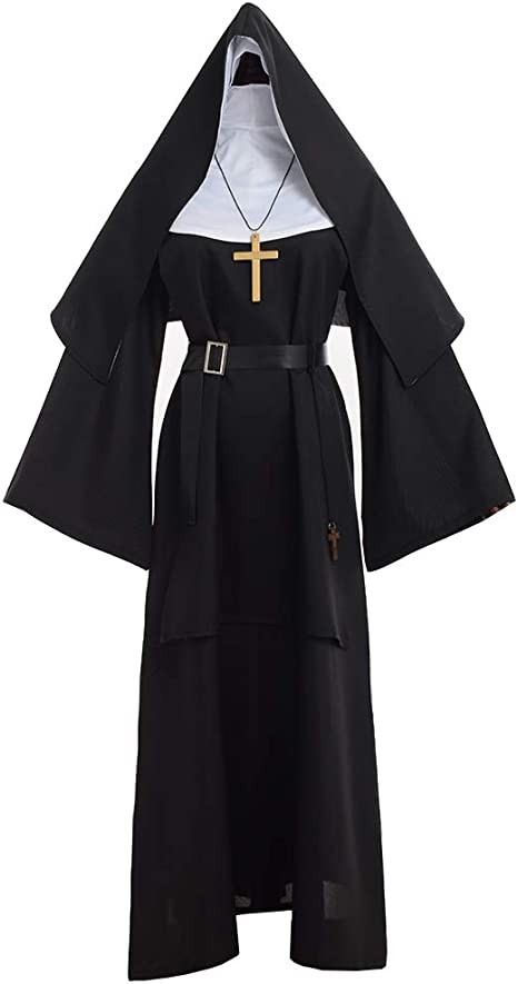GRACEART The Nun Deluxe Adulto Disfraz de Monja para Mujer (S ...