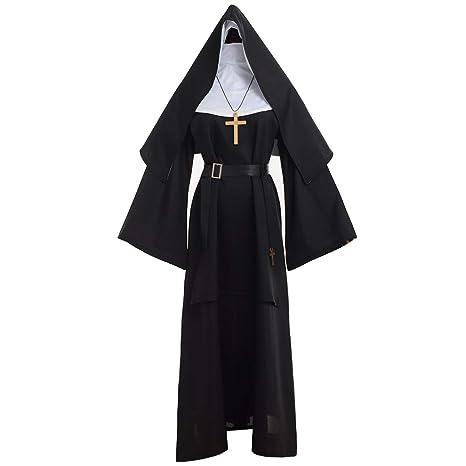 GRACEART The Nun Deluxe Adulto Disfraz de Monja para Mujer (M ...