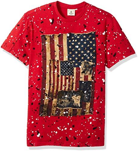 T And Kectelly shirt Slub Red Big Flag 1 Hoorah Men's Tall qqcYW4F