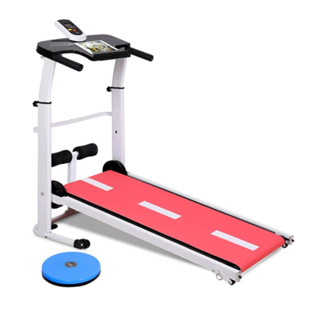 Laufbänder Tretmühle Mini Mechanische Multifunktions-Gewichtsverlust Fitness (Farbe   ROT, Größe   100  50  90cm)