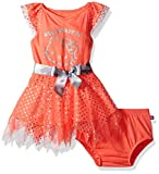 Hello Kitty Baby Girls' Embellished Tutu Dress, Coral, 24M