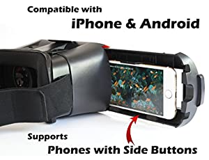 3D VR Headset Virtual Reality Glasses for iPhone & Android - Play Your Best Mobile Games & 360 Movies With Soft & Comfortable Goggles Plus Special Adjustable Eye Care System from Bnext