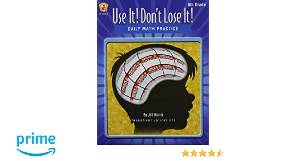 Amazoncom Daily Math Practice 6th Grade Use It Dont Lose It