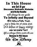 In This House We Do Disney - Poster Print Photo Quality - Made in USA - Disney Family House Rules - Frame not included (11x14, White Background)