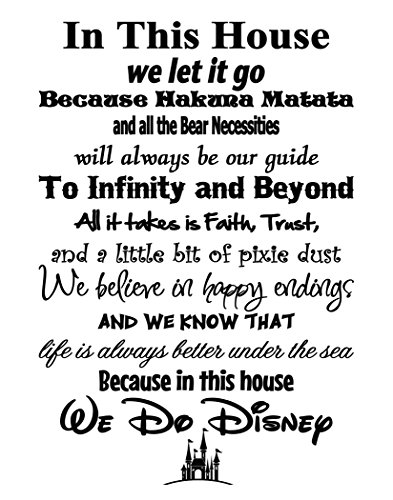 (In This House We Do Disney - Poster Print Photo Quality - Made in USA - Disney Family House Rules - Frame not included (11x14, White Background))