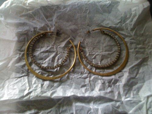 Avon Sparkling Rainbow Hoop Earrings